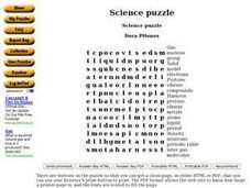 Science Puzzle Worksheet