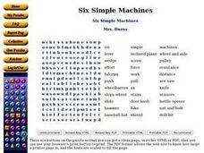 Six Simple Machines Worksheet