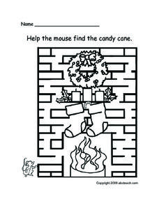 Help the Mouse Find the Candy Cane Lesson Plan
