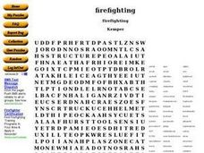 Firefighting Worksheet
