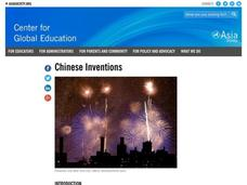 Chinese Inventions Lesson Plan