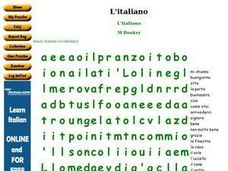 L'italiano Worksheet