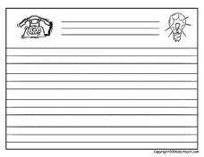 Inventions Writing Paper (Blank) Worksheet