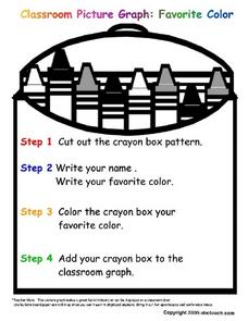 Classroom Picture Graph: Favorite Color Worksheet