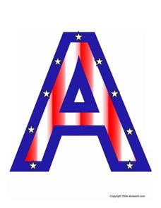 Patriotic Letters, A-M Lesson Plan