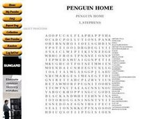 Penguin Home Word Search Worksheet