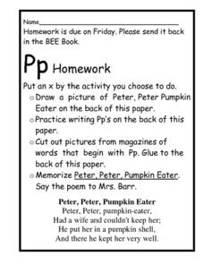 Pp Homework Worksheet