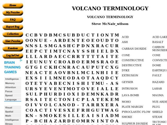 Volcano Terminology 6th 8th Grade Worksheet – Volcanoes Worksheet