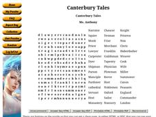 Canterbury Tales Worksheet