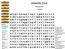 Perspective Word Puzzle Worksheet