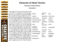 Short Stories Word Puzzle Worksheet