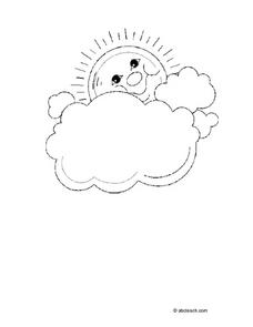 Sun and Clouds Picture Worksheet