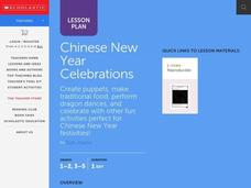 Chinese New Year Celebration Lesson Plan