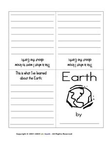 Earth: Mini Book/KWL graphic organizer Worksheet