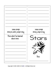 Stars (Writing a Booklet) Printables & Template