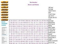 The Beatles Word Search Puzzle Worksheet