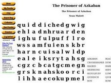 The Prisoner of Azkaban Worksheet