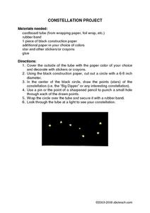 Constellation Craft Worksheet