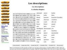 Les descriptions Worksheet
