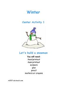 Winter: Let's Build a Snowman Worksheet