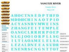 Yangtze River Worksheet