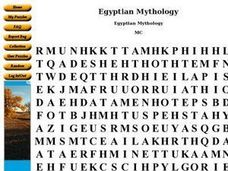Egyptian Mythology Worksheet