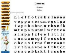 German Word Puzzle Worksheet