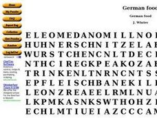 German Food Worksheet