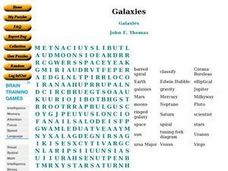 Galaxies Word Puzzle Worksheet