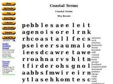 Coastal Terms Worksheet