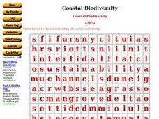 Coastal Biodiversity Worksheet