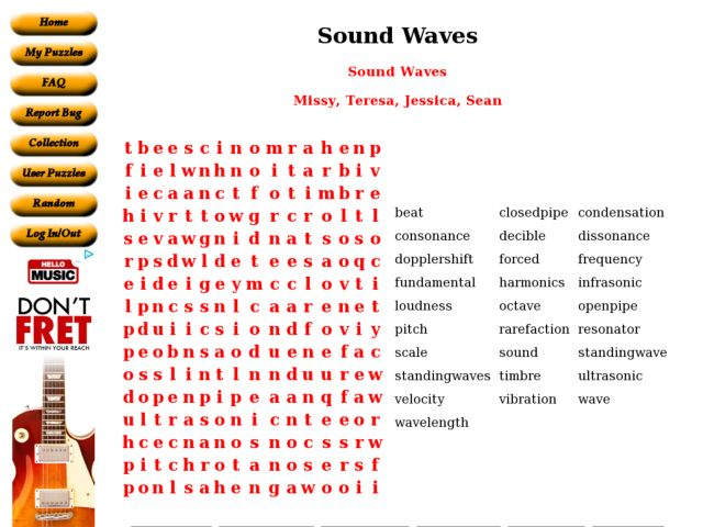 Sound Waves vocabulary review 6th 7th Grade Worksheet – Sound Waves Worksheet