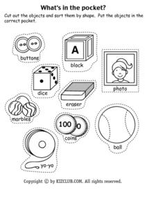 What's in the Pocket-- Shape Pictures Lesson Plan