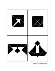 Tangram Patterns To Make Worksheet