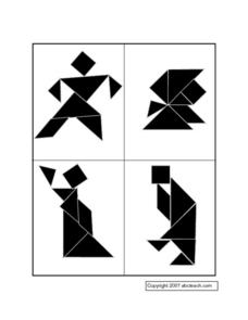 Tangram Patterns Worksheet