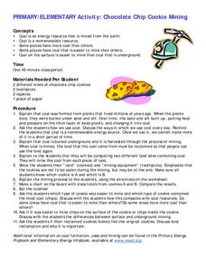 Chocolate Chip Cookie Mining Lesson Plan