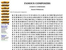 Famous Composers Worksheet