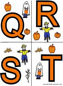 Halloween Alphabet Cards: Q-X Lesson Plan