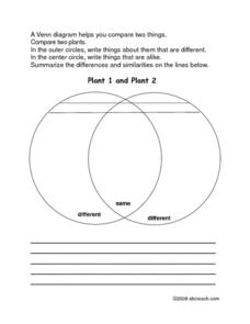 Comparing Plants Worksheet