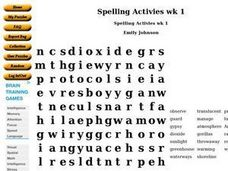 Spelling Activities wk 1 Worksheet