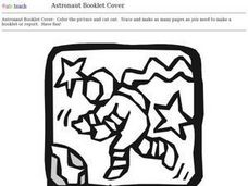 Astronaut Booklet Cover Worksheet
