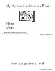 My Homeschool Memory Book Worksheet