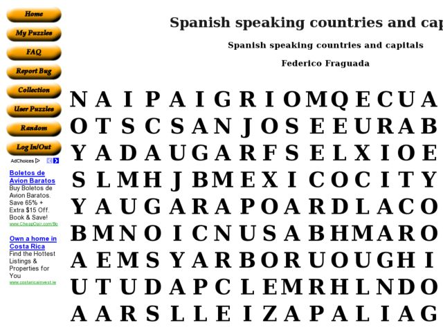 spanish speaking countries and capitals word search worksheet for 9th 10th grade lesson planet. Black Bedroom Furniture Sets. Home Design Ideas