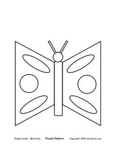 Shape Puzzle - Butterfly Lesson Plan