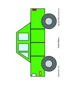 Shape Puzzle--Car Lesson Plan