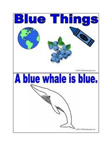 Things That Are Blue Worksheet