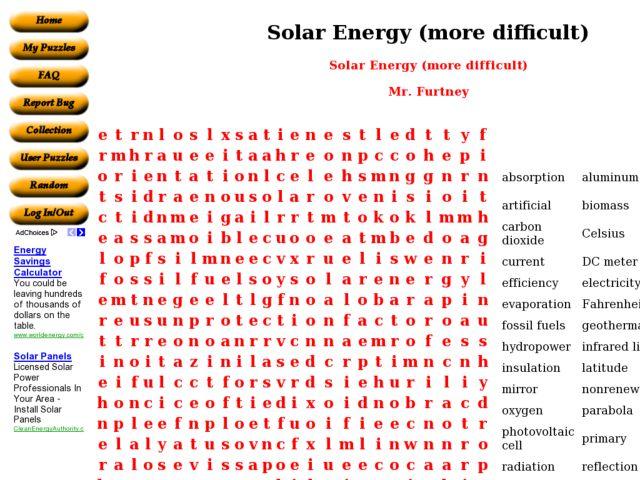 Solar Energy Word Search 9th 10th Grade Worksheet – Solar Energy Worksheets