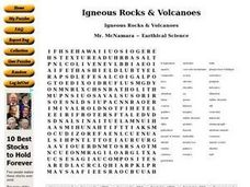 Igneous Rocks & Volcanoes Worksheet