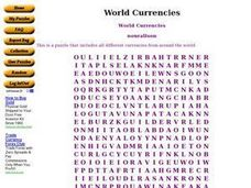 World Currencies Worksheet
