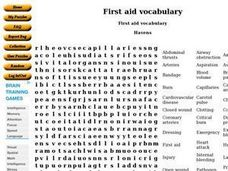First aid vocabulary Worksheet